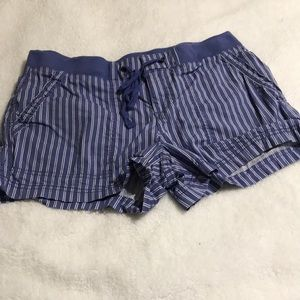 Ana Size 4 Blue and White Stripe Shorts